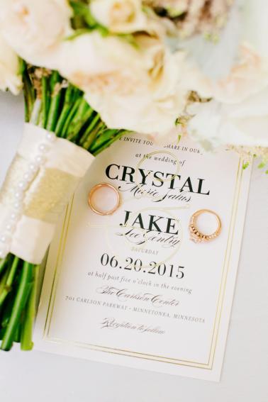 Elegant Ivory & Blush Minnesota Wedding via TheELD.com