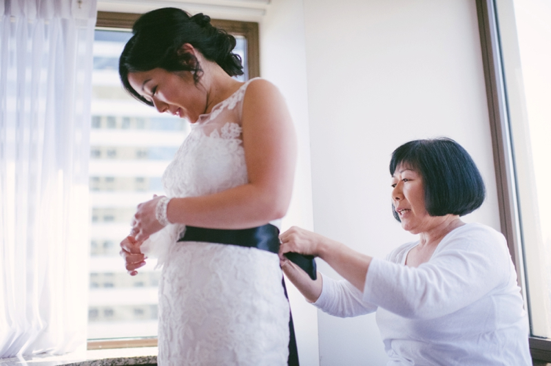 Classic Pink & Plum Seattle Wedding via TheELD.com