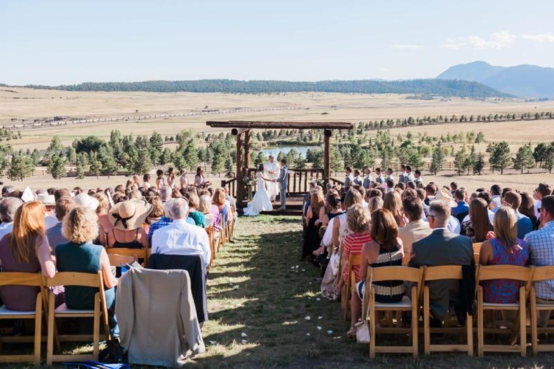 A Blush and Red Colorado Wedding via TheELD.com