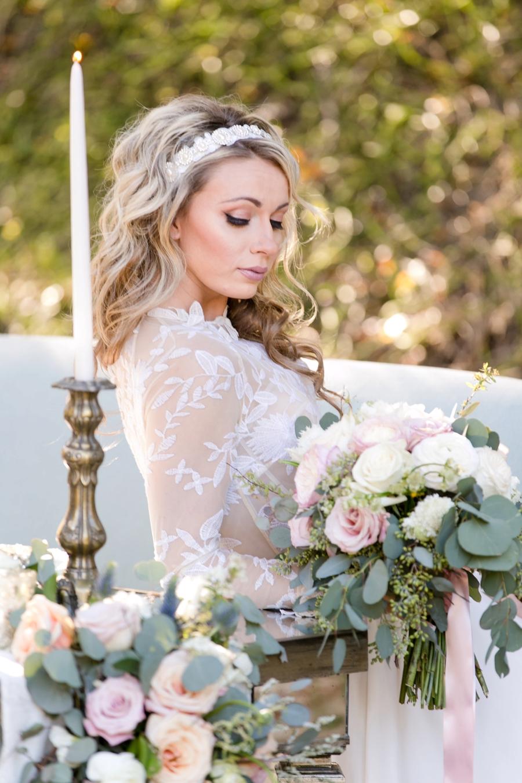 Whimsical Romantic Blush and Blue Wedding Ideas via TheELD.com