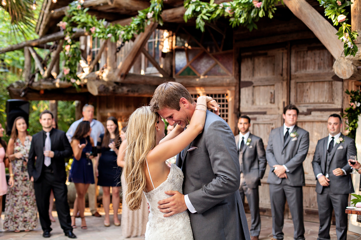 Pink & Gold Rustic Garden Wedding via TheELD.com