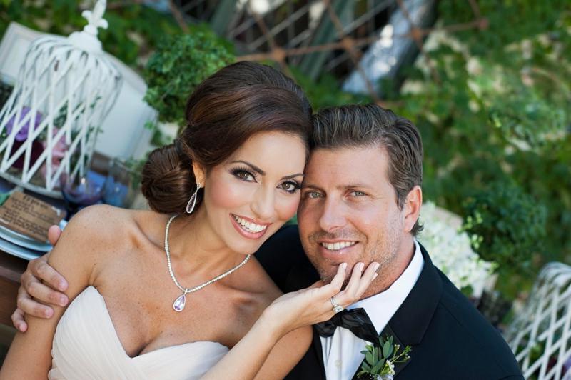 Romantic Purple & Burgundy Wedding Ideas via TheELD.com