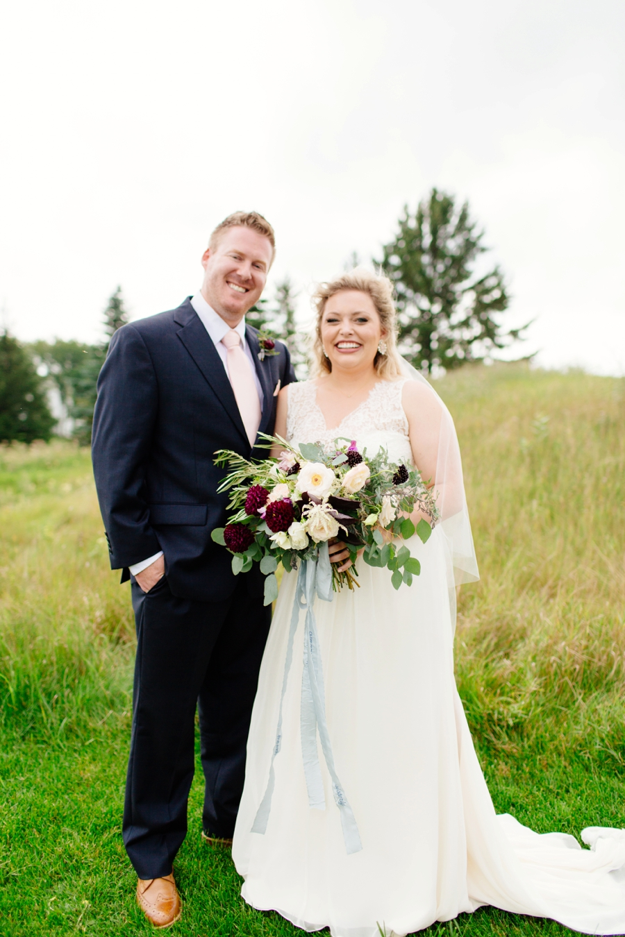 An Organic Blush & Burgundy Minnesota Wedding via TheELD.com