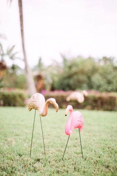 Chic Florida Inspired Pink and Aqua Wedding Ideas via TheELD.com