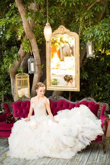 Elegant, Organic Blush and Red Wedding Ideas via TheELD.com
