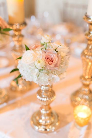 Elegant Champagne & Blush Orlando Wedding via TheELD.com