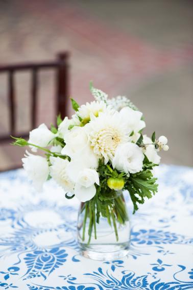 Elegant Green & White Sonoma Wedding via TheELD.com