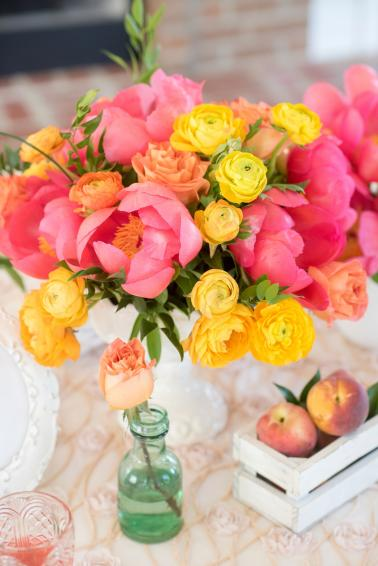 Pink & Yellow Vintage Modern Wedding Ideas via TheELD.com