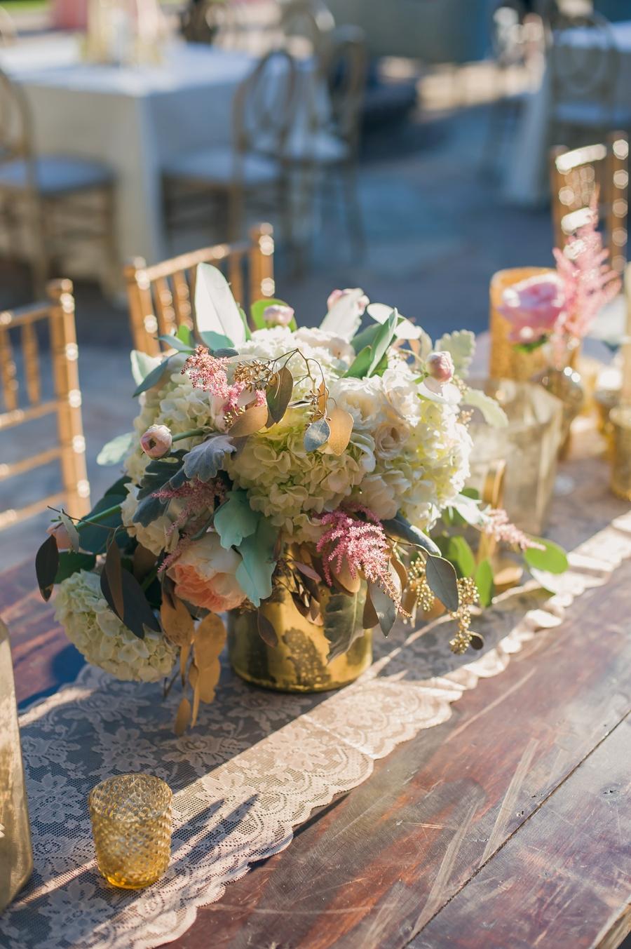 Romantic Blush and Gold Charleston Wedding via TheELD.com