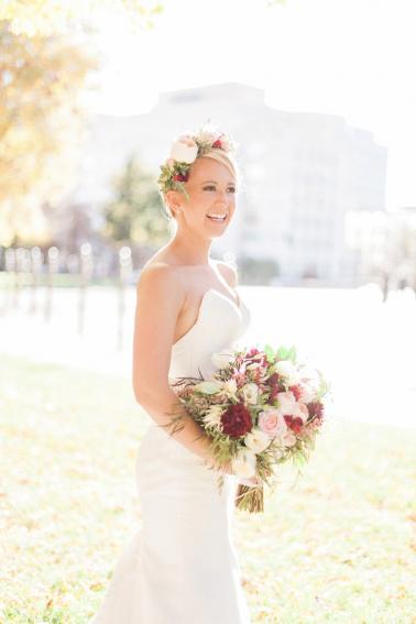 Whimsically Elegant Marsala & Blush Denver Wedding via TheELD.com