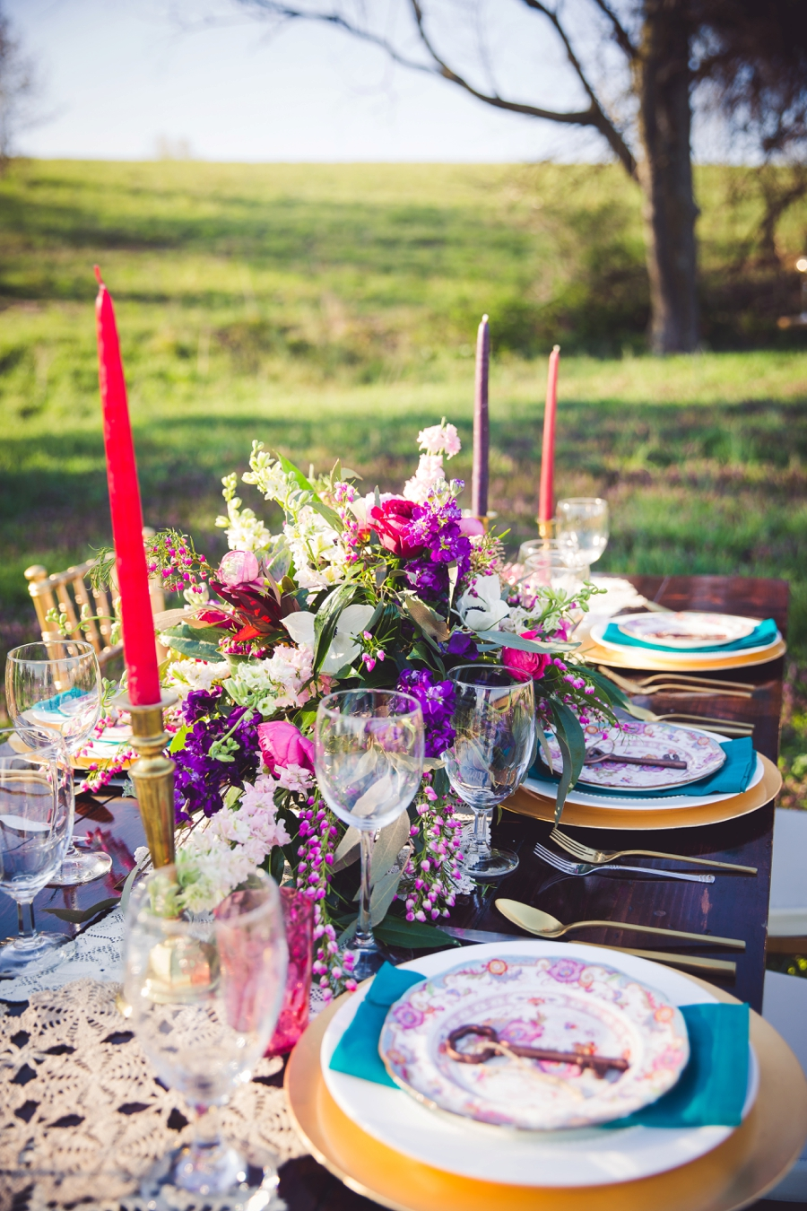 Colorful Rustic Boho Wedding Ideas via TheELD.com