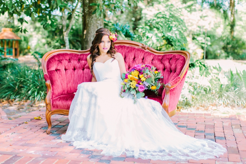 Colorful Secret Garden Inspired Wedding Ideas via TheELD.com