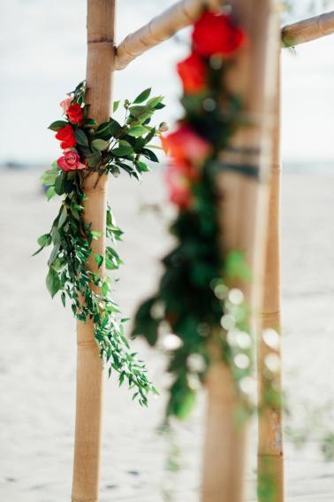 Bright Bohemian Beach Wedding via TheELD.com