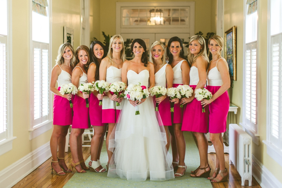 Preppy Elegant Pink & Navy Destination Wedding via TheELD.com