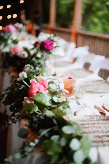 Pink & Peach Rustic Dallas Wedding via TheELD.com