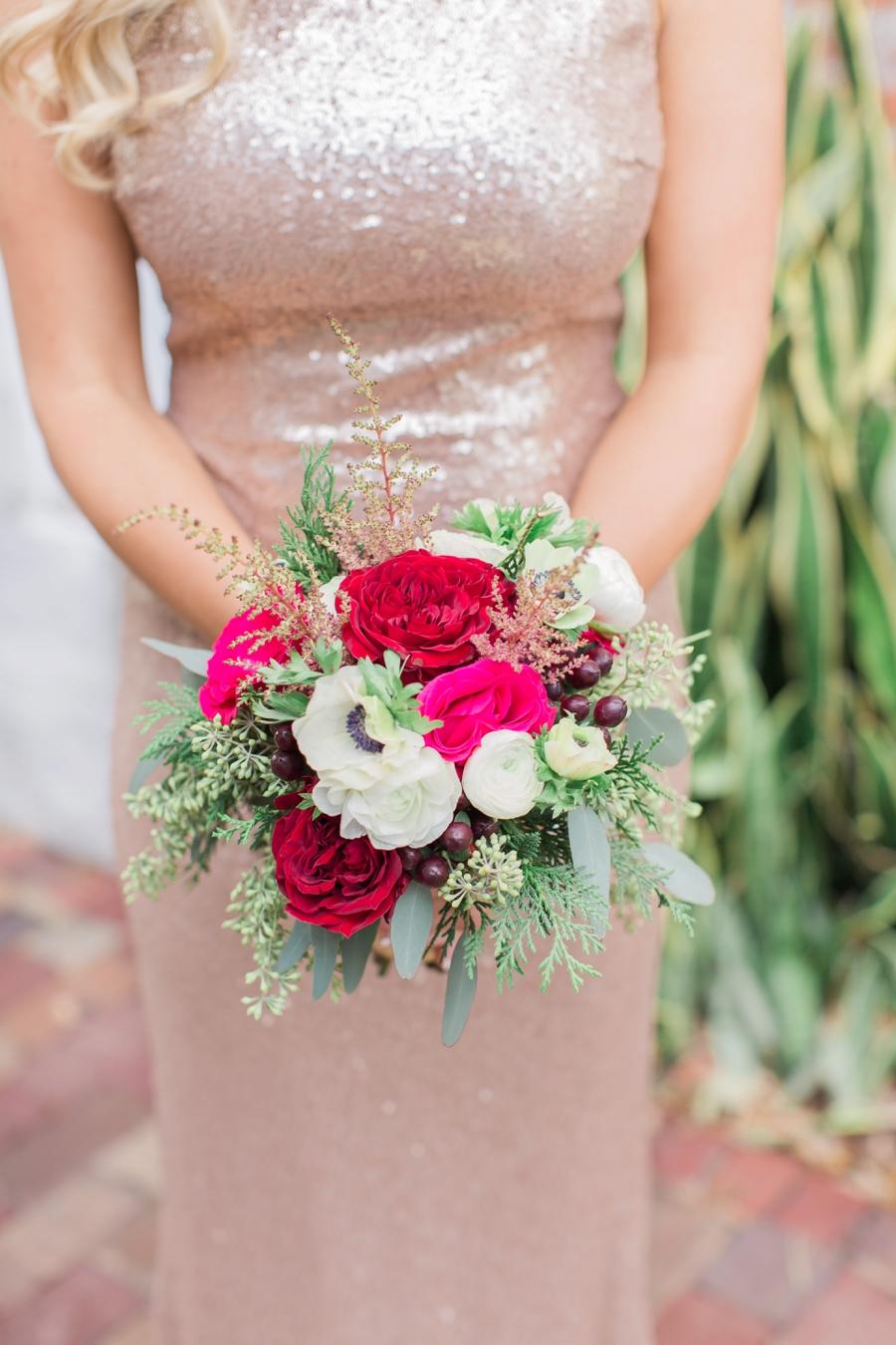 A Red and Gold Orlando Wedding via TheELD.com