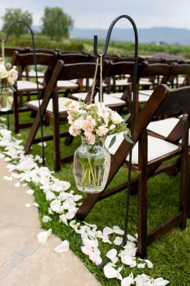 Elegant Blush & White Temecula Wedding via TheELD.com
