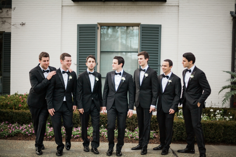 Elegant Pink, Black & Gold Dallas Wedding via TheELD.com