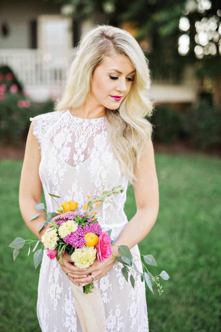 Colorful Southern Farm Wedding Inspiration via TheELD.com
