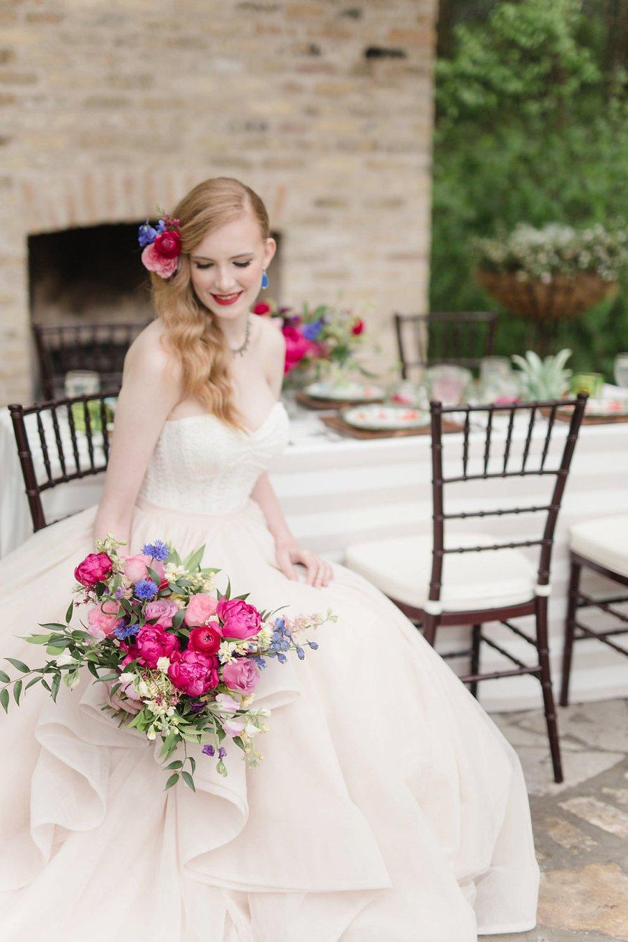 Colorful Modern Fiesta Inspired Wedding Ideas via TheELD.com
