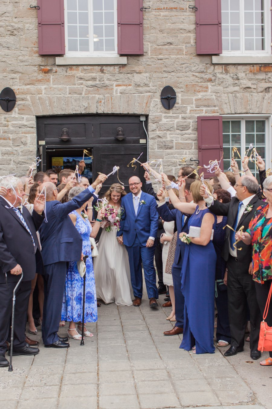 Bright Berry Toned Canadian Brewery Wedding via TheELD.com