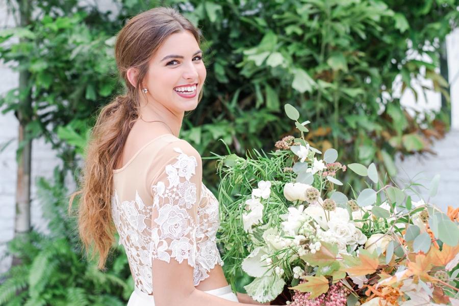 Marigold & Blue Boho Industrial Wedding Inspiration via TheELD.com