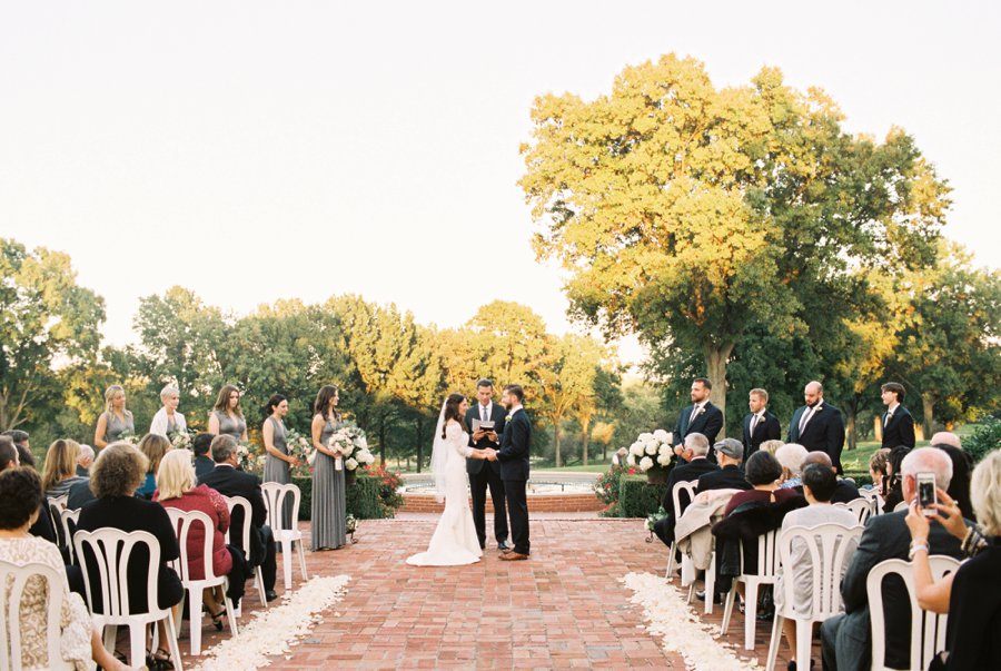 Blush & Gray Elegant Rustic Country Club Wedding via TheELD.com
