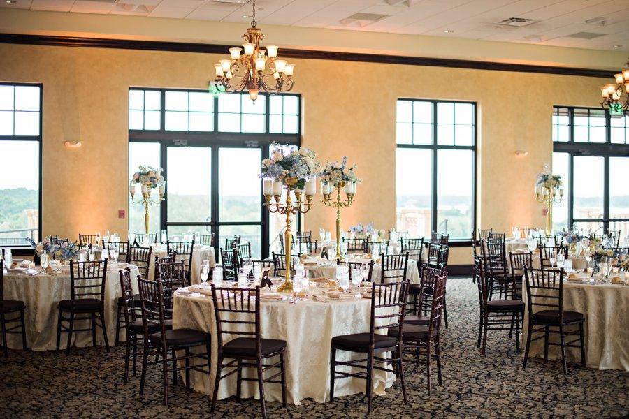 Elegant Pink & Blue Central Florida Wedding via TheELD.com