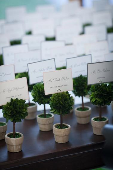 Pink & Green Elegant Garden Wedding via TheELD.com