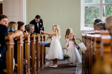 Blush and Blue Classic Florida Wedding via TheELD.com