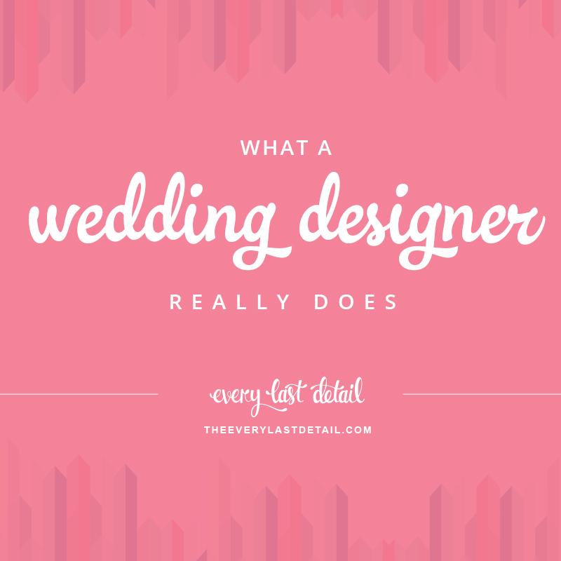 What A Wedding Designer Really Does via TheELD.com