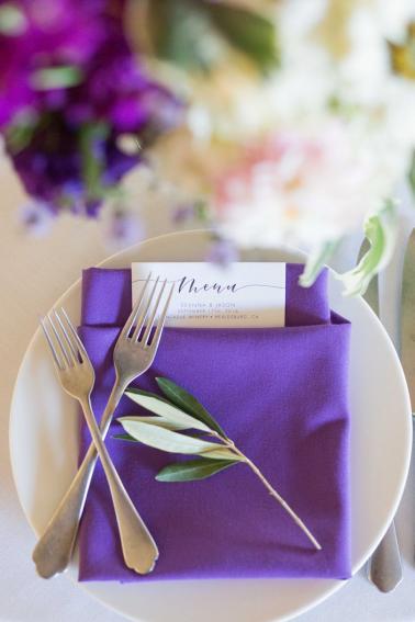 A Classic Purple and Berry Vineyard Wedding via TheELD.com