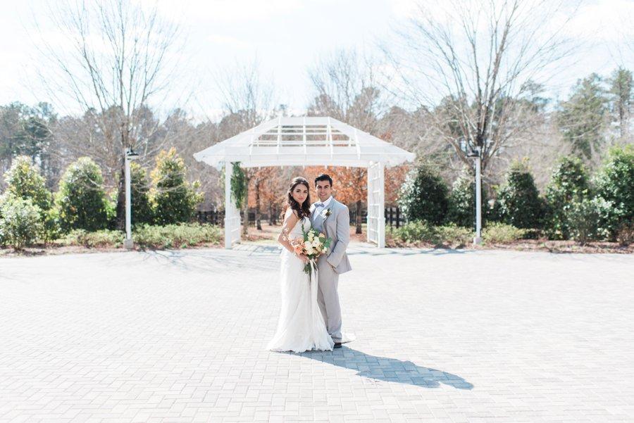 Elegant Peach and White Wedding Ideas via TheELD.com