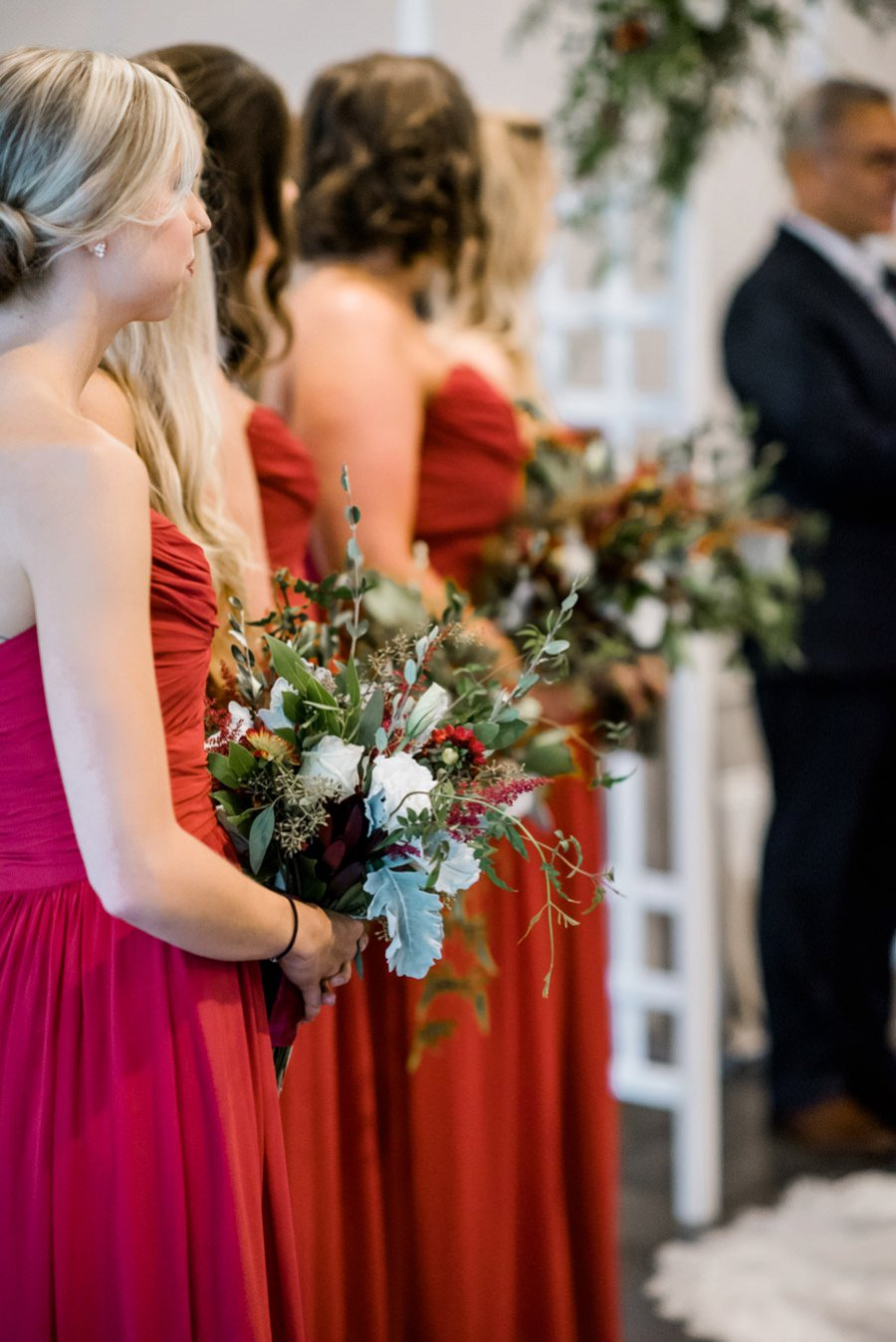 Berry, Navy, & Green Organic North Carolina Wedding via TheELD.com