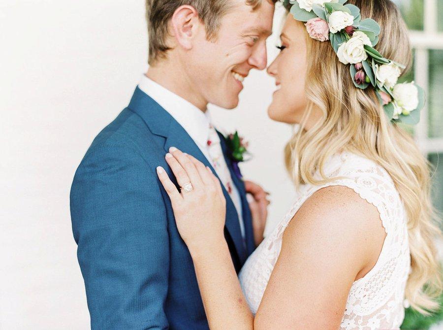A Relaxed Bohemian Blush & Blue Maryland Wedding via TheELD.com