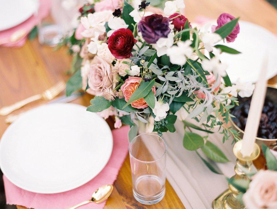 Organic Blush & Cranberry Private Estate Wedding Ideas via TheELD.com
