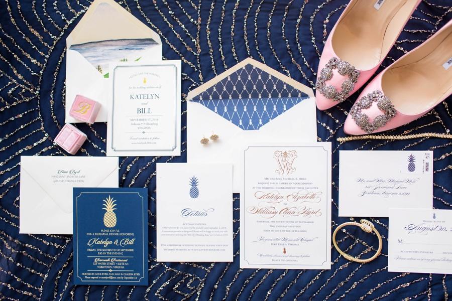 Classic Southern Monogram Wedding Invitations via TheELD.com