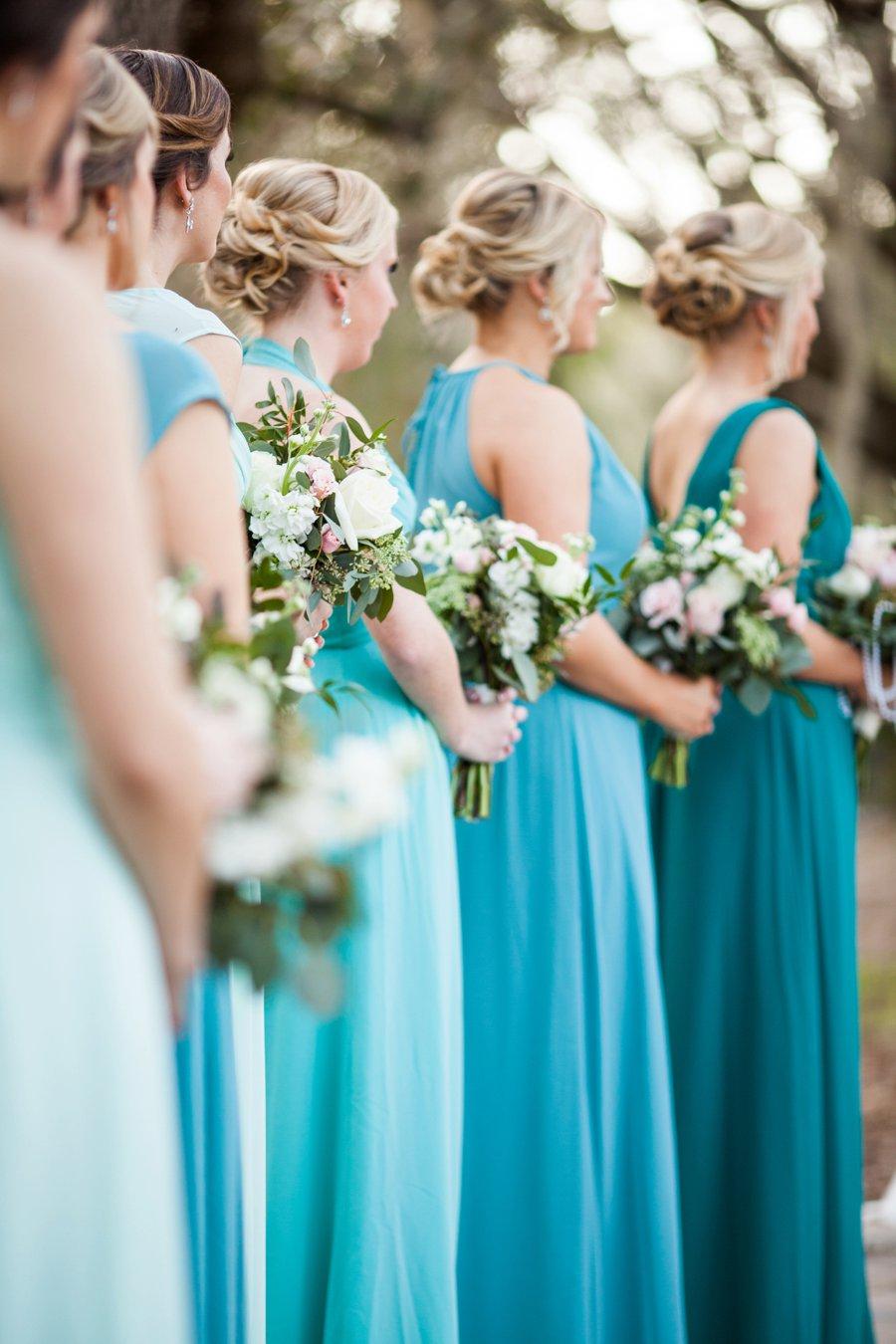 A Pink and Teal Rustic Florida Wedding via TheELD.com