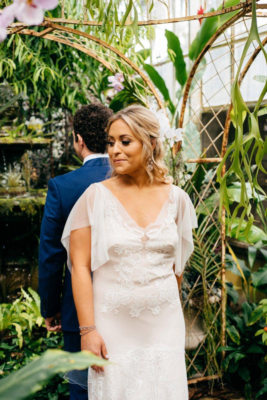 A Burgundy and Blush Ethereal Florida Garden Wedding via TheELD.com