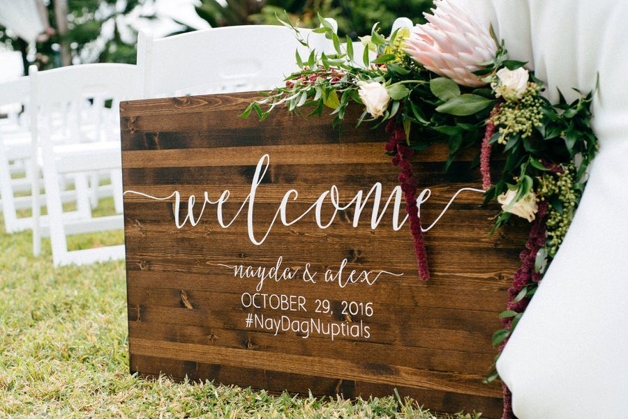 A Burgundy and Blush Ethereal Florida Garden Wedding via TheELD.com