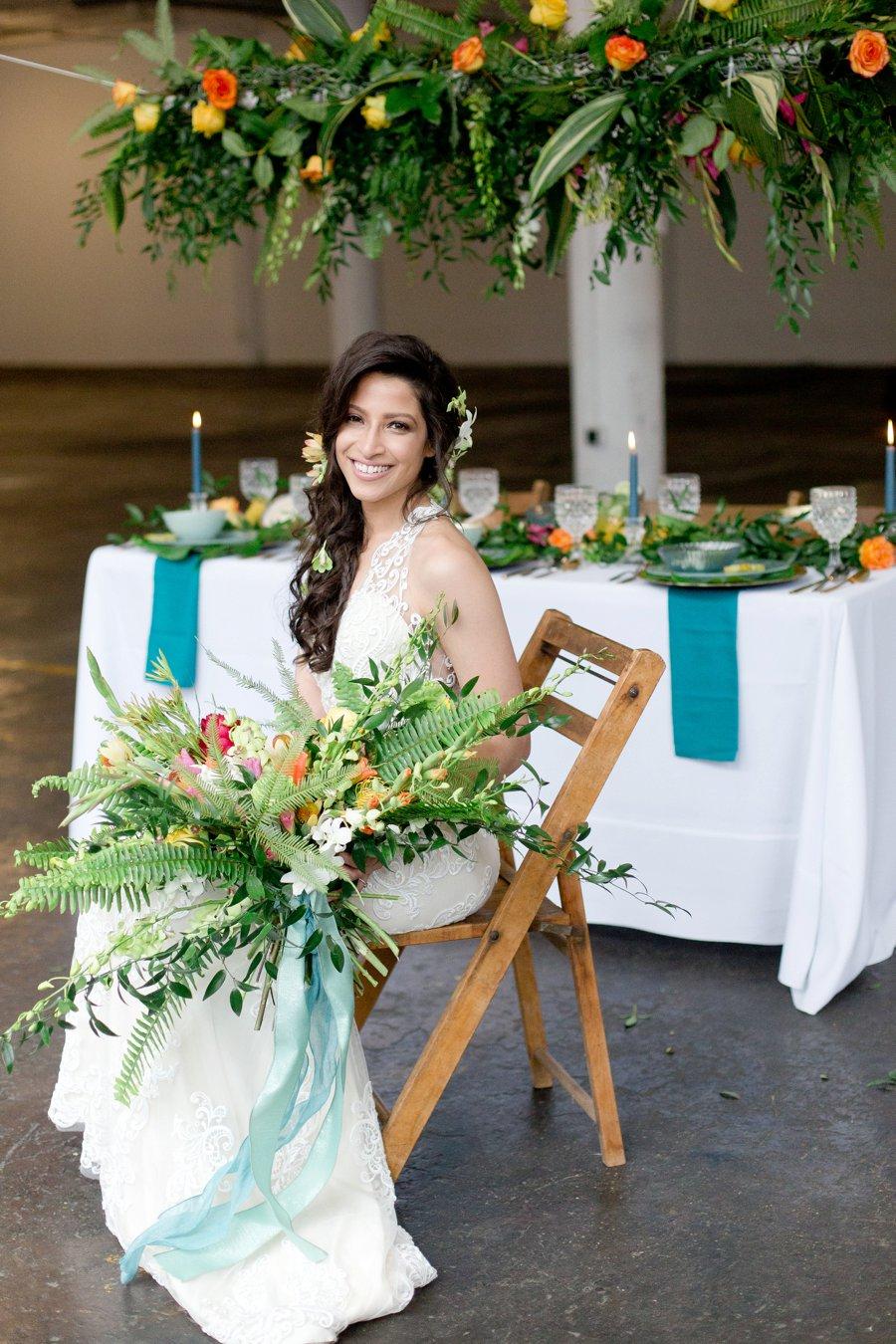 Modern & Lush Tropical Wedding Ideas via TheELD.com