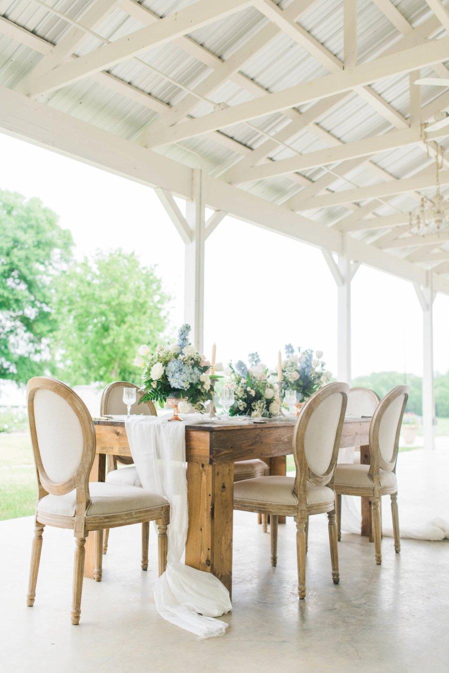 Blush & Blue Rustic Romantic Wedding Ideas via TheELD.com