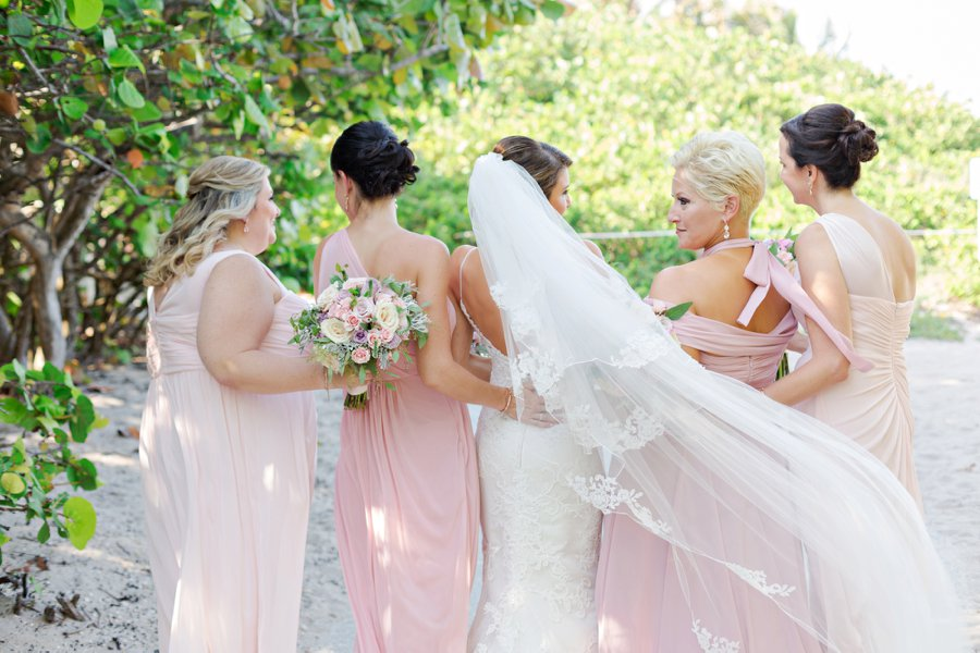 An Elegant Pink & Gold South Florida Wedding via TheELD.com