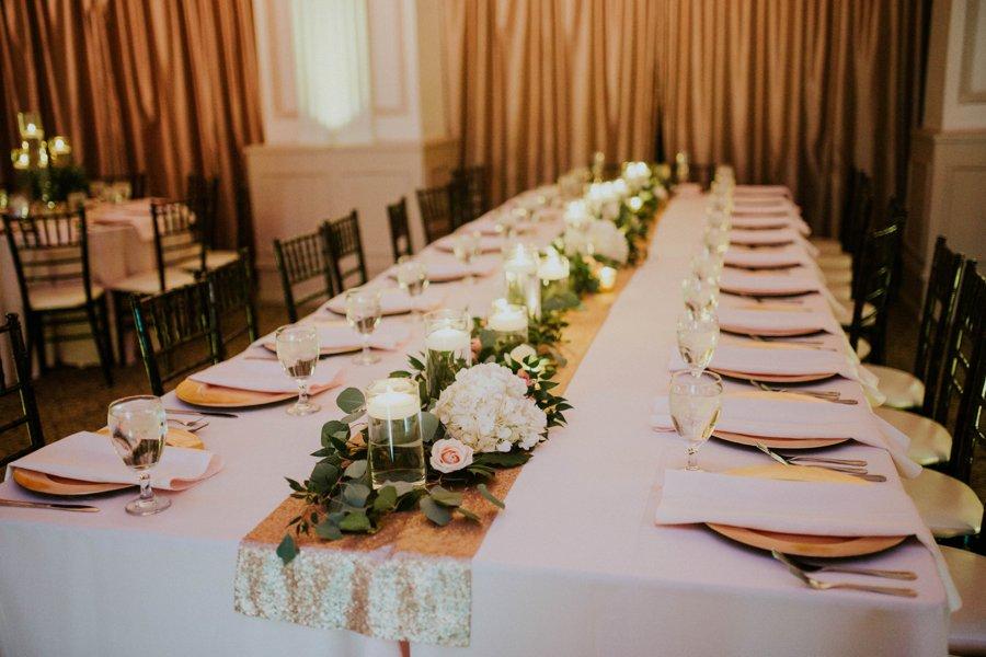 An Elegant Blush & White Black Tie Wedding In Florida via TheELD.com