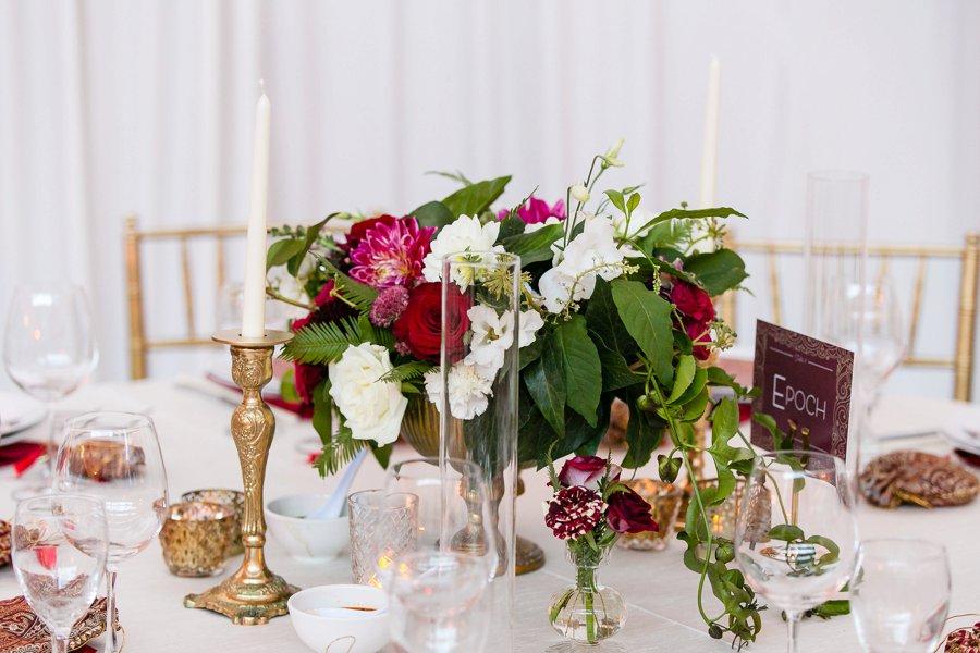 An Elegant Red & White Multi Cultural LA Wedding via TheELD.com