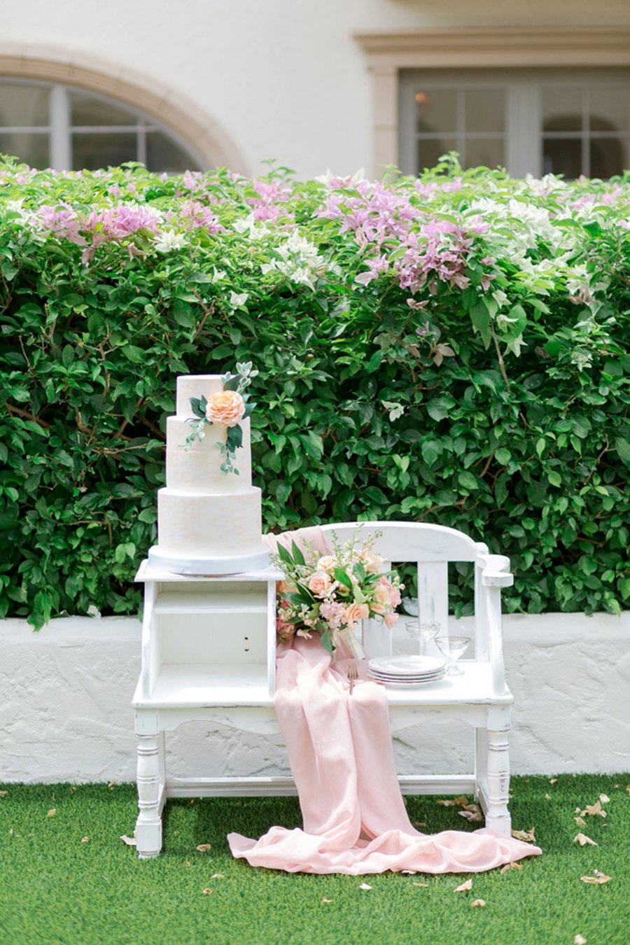 Romantic Peach and Coral Wedding Ideas via TheELD.com