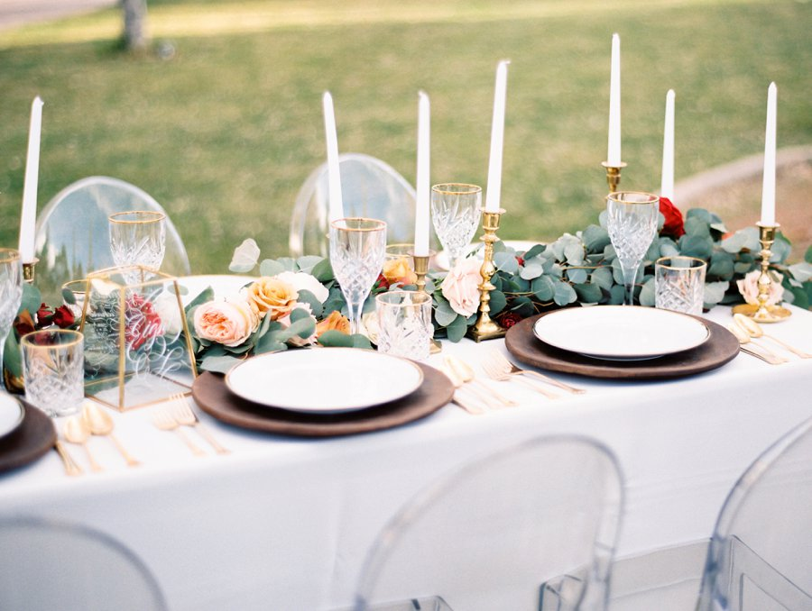 Red & White Rustic Boho Wedding Ideas via TheELD.com