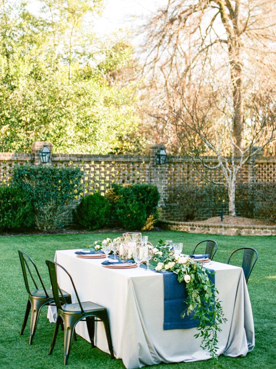 Navy, Copper, & Marble Modern Wedding Ideas via TheELD.com