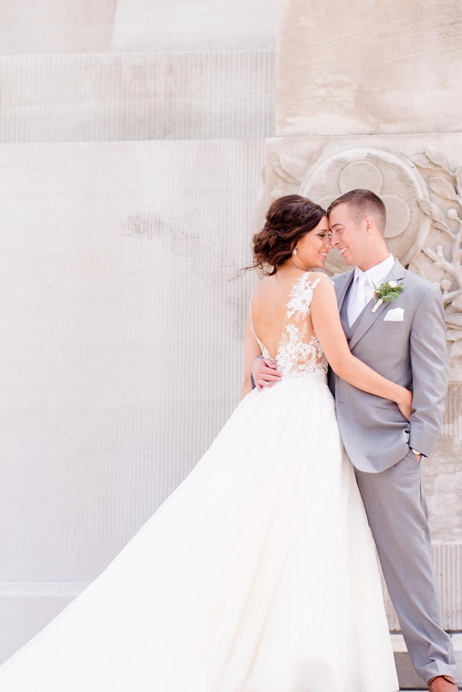 Elegant Green, Grey, & White Indiana Wedding via TheELD.com