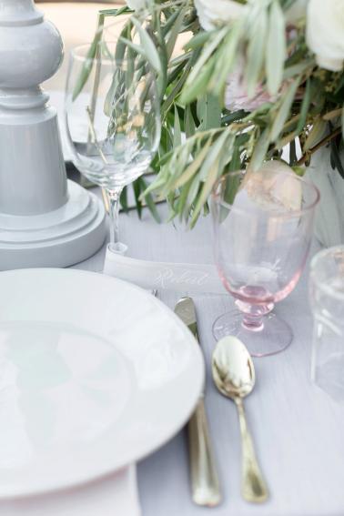Romantic Grey Italian Inspired Wedding Ideas via TheELD.com